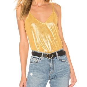 Gold metallic bodysuit